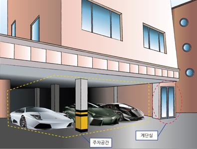 필로티 구조 (1층 주차장 + 상층부 다세대/다가구 주택) [사진 서울특별시]