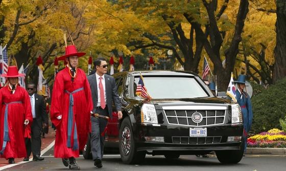 지난 7일 도널드 트럼프 미국 대통령이 국빈방한 했을 당시 사진. [사진 효자동사진관]