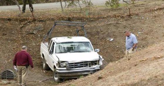 총격범 케빈 닐이 범행 과정에서 타고 있던 차량. [사진 AP=연합뉴스]