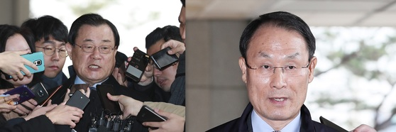 이병기 전 국정원장(왼쪽)과 이헌수 전 국정원 기조실장. [중앙포토, 연합뉴스]