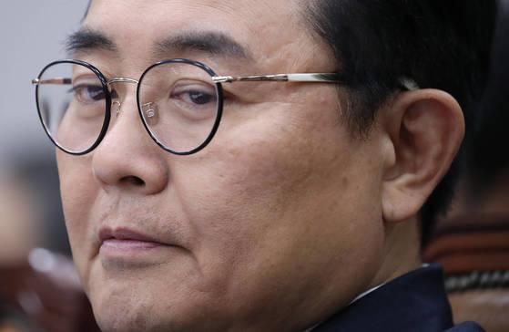 생각에 잠긴 전병헌 정무수석. [연합뉴스]