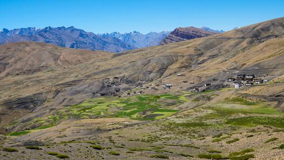 세계에서 가장 높은 우체국이 있는 스피티 밸리의 히킴(hikkim)마을.