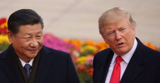 9일 오전 중국 베이징 인민대회당에서 열린 도널드 트럼프 미국 대통령 방중 환영행사에서 시진핑 국가주석과 트럼프 대통령이 다정한 표정을 짓고 있다. [연합뉴스]