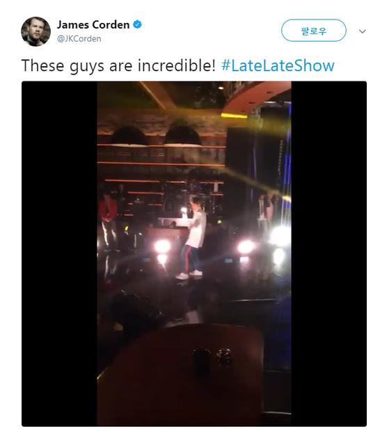 James Gordon reveals on-site clip [Twitter]