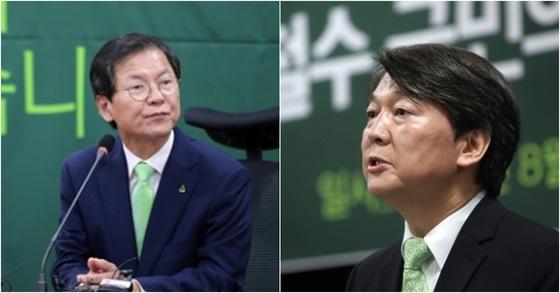 국민의당 천정배 의원, 안철수 대표. [중앙포토, 연합뉴스]