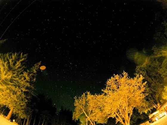 저녁을 먹고 식당에서 나오니 하늘에서 별이 쏟아졌다.