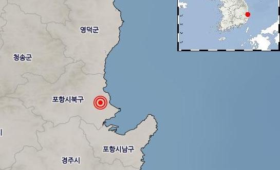 19일 밤과 20일 새벽에 경북 포항시에서 3.5 이상의 지진이 두 차례 발생했다. [연합뉴스]