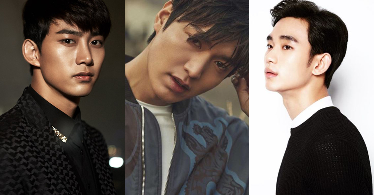 Ok Taec-yeon (left), Lee Min-ho (center), and Kim Soo-hyun (right)