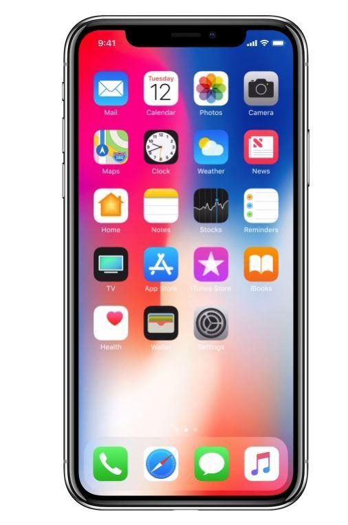 24일 국내에 공식 출시된 아이폰X의 모습. [사진 애플 홈페이지]