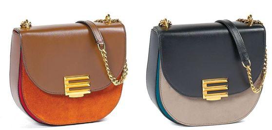 '알바 컬러 블록 컬렉션'은 가을 느낌을 풍기는 차분한 두 가지 색상으로 선보이고 있다. 반달 모양의 컬러 배색이 멋스럽다. [사진 에트로]