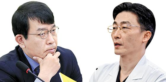 김종대(左), 이국종(右). [뉴시스]
