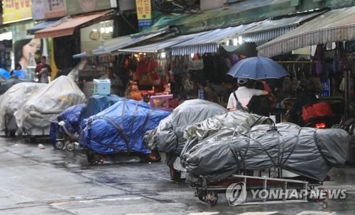 노점상 사진. 기사 내용과는 무관. [연합뉴스]