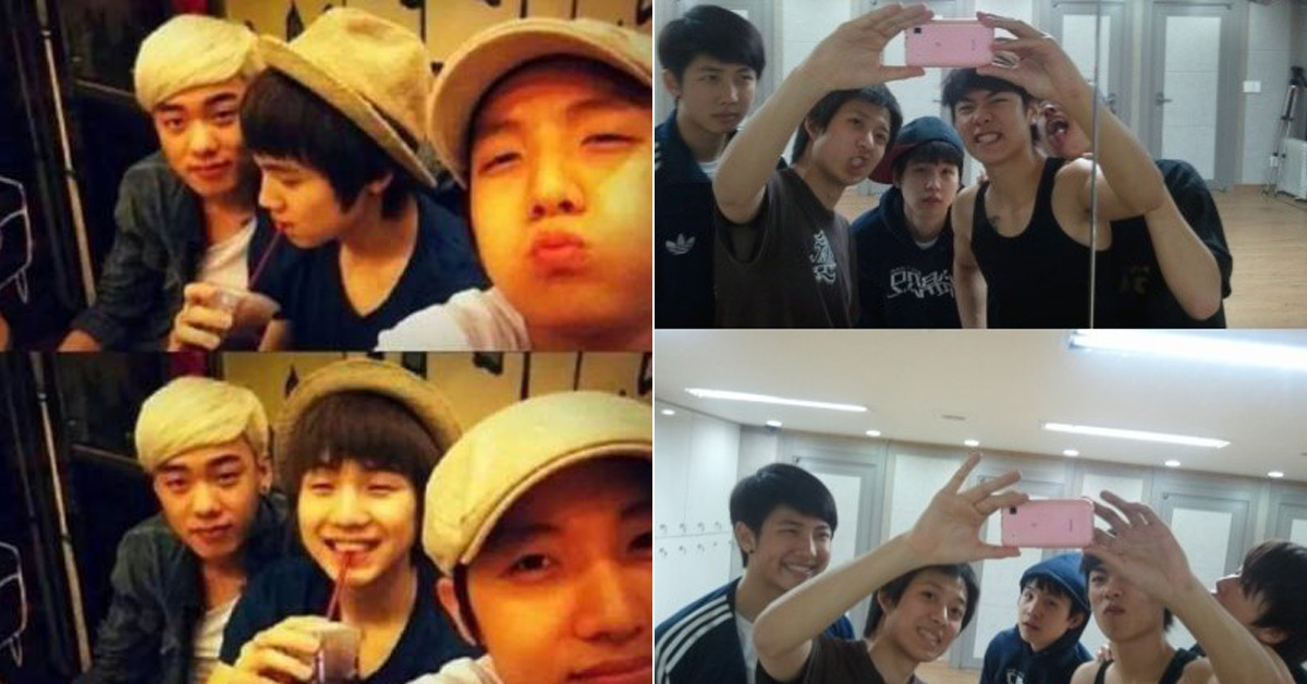 BTS as trainees. [photo from online community]