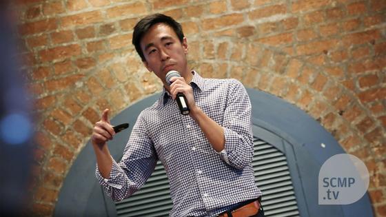 게리 리우 사우스차이나모닝포스트(SCMP) 최고경영자(CEO)는 항상 '사용자 경험'을 강조한다. 사용자들이 뉴스를 소비하며 '어떤 경험'을 하는지 미디어가 주시해야 한다는 것이다. 지난 4월 홍콩 외신기자클럽(FCC) 콘퍼런스 강연 장면. [사진 사우스차이나모닝포스트]
