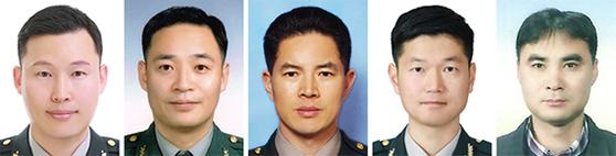 왼쪽부터 박민석 소령, 조성호 중령, 고인화 원사, 천진복 상사, 한용국 주무관.