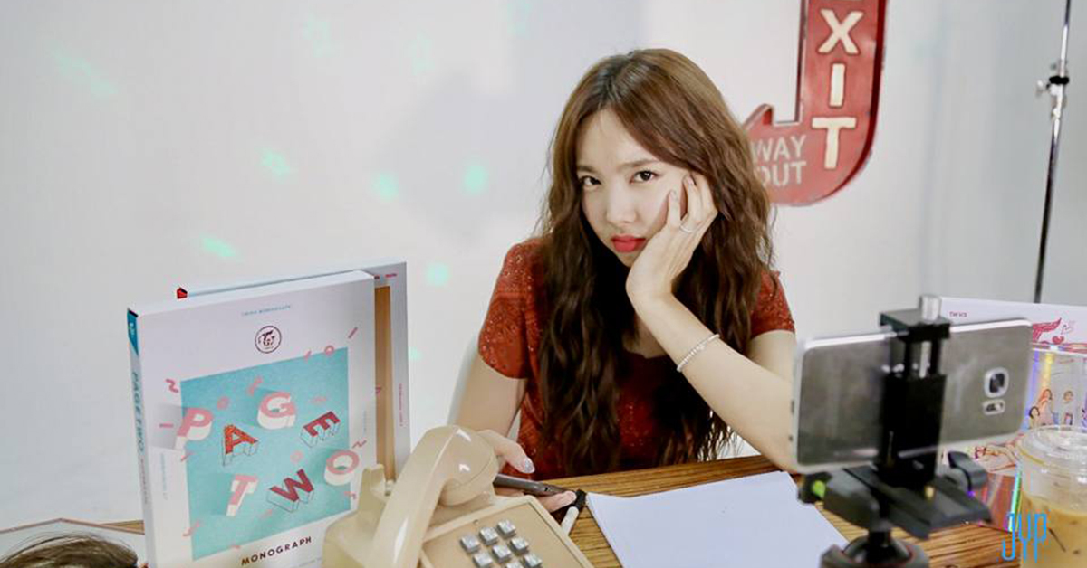 Nayeon of TWICE from TWICE's official Facebook