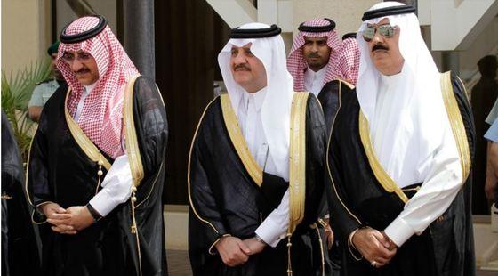 28일 석방된 미테브 왕자(오른쪽). [AP=연합뉴스]