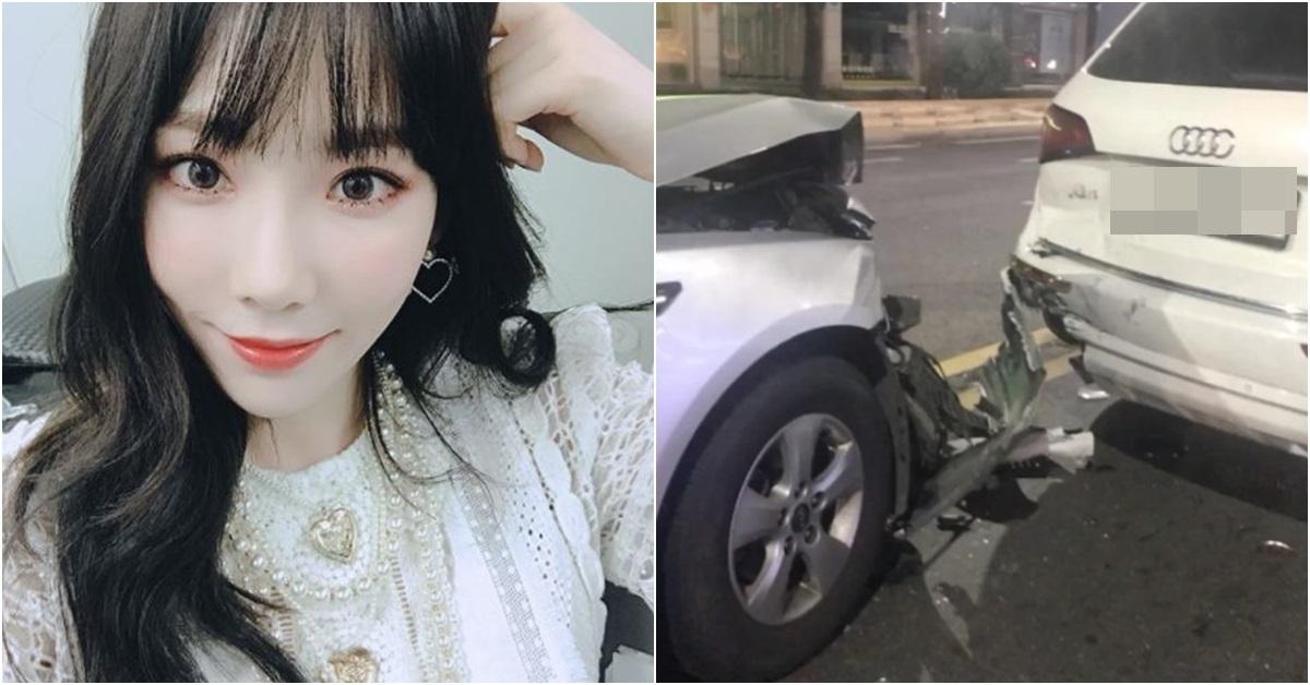 소녀시대 태연(왼쪽)과 피해자라고 주장하는 글쓴이가 인스타그램에 올린 사진.
