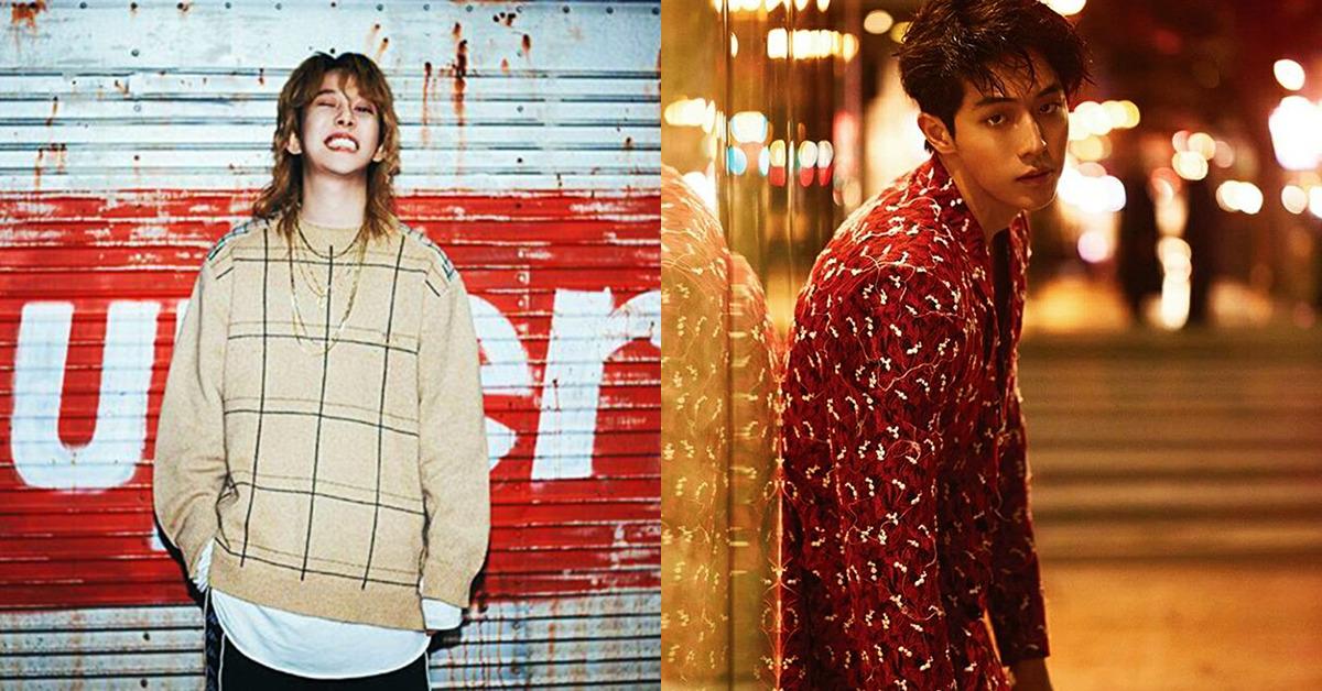 Block B's Park Kyoung (left) and Nam Joo-hyuk. Photo from Instagram @qkrrud78 @skawngur