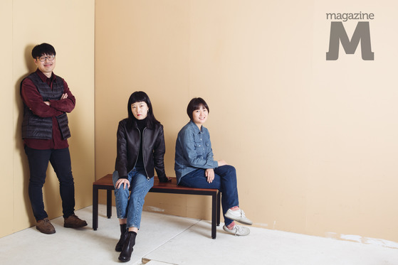 서울독립영화제2017 '너와 극장에서' 유지영 & 정가영 & 김태진 감독 / 사진=라희찬(STUDIO 706)