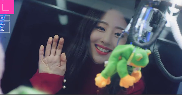 LOONA's Yves in 'new' MV. Photo from official website.