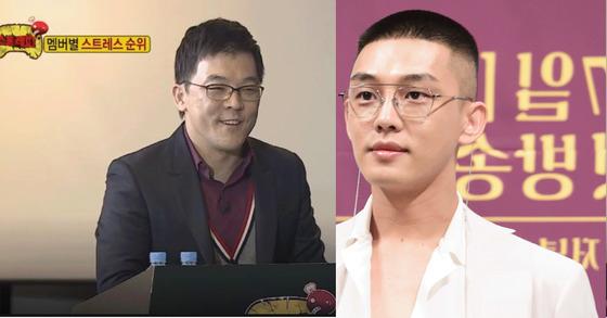 김현철 정신과 의사(왼쪽)과 배우 유아인[사진 MBC, 뉴스1]