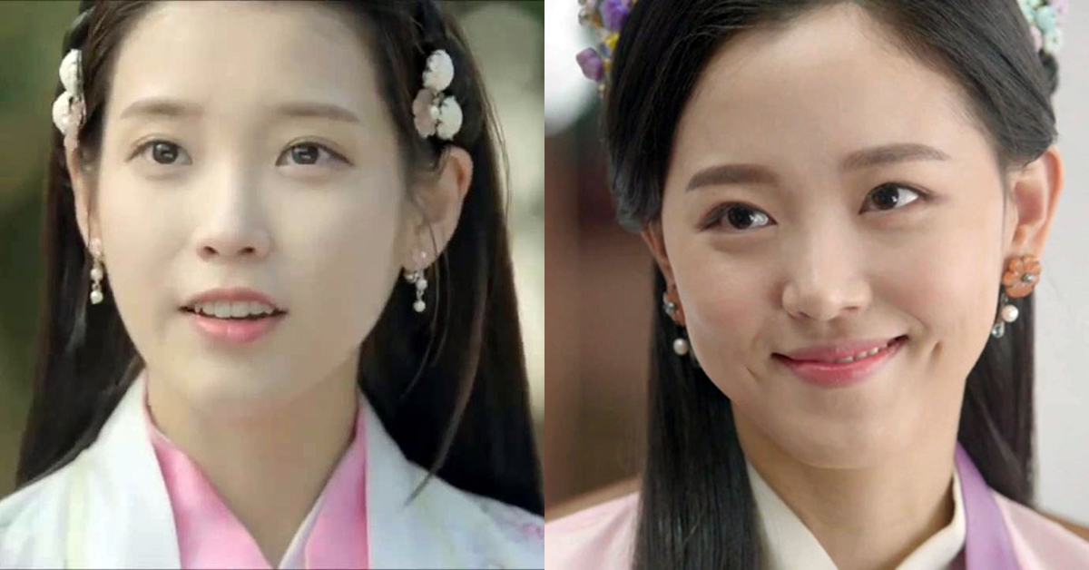 IU (left) and Kang Hanna (right) on Moon Lovers. Photo from SBS.