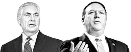 틸러슨(左), 폼페이오(右)