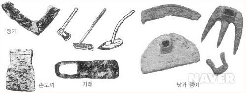 춘추전국시대에 이르러 철제 농기구가 본격적으로 확산됐다. 이와 함께 농사에 소를 사용하기 시작하면서 생산력이 급증했다. [네이버]