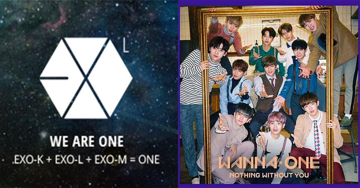 EXO-L, EXO's official fandom(left) and WannaOne. Photo from EXO-L official website(left) and Instagram @wannaone.official
