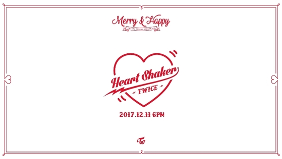 'Heart Shaker' album cover. Photo from JYP Entertainment.