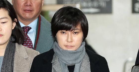 6일 선고공판에 출석 중인 장시호씨. 장진영 기자
