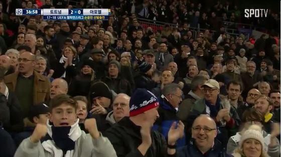[사진 SPOTV 토트넘 vs 아포엘 경기 중계화면 캡처]