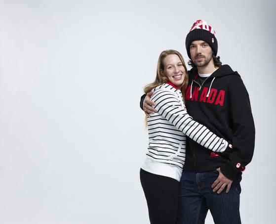 캐나다 쇼트트랙 국가대표 샤를 아믈랭(오른쪽)과 마리안 생젤레. [캐나다 올림픽위원회 홈페이지]