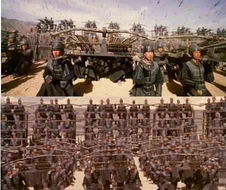 한번에 수십개의 화살을 발사할 수 있는 기계식 활인 '노(弩)'. 진나라의 주력무기 중 하나로 영화와 드라마 등에서 노를 사용해 비오듯 활을 쏘는 장면을 볼 수 있다. [영화 영웅]