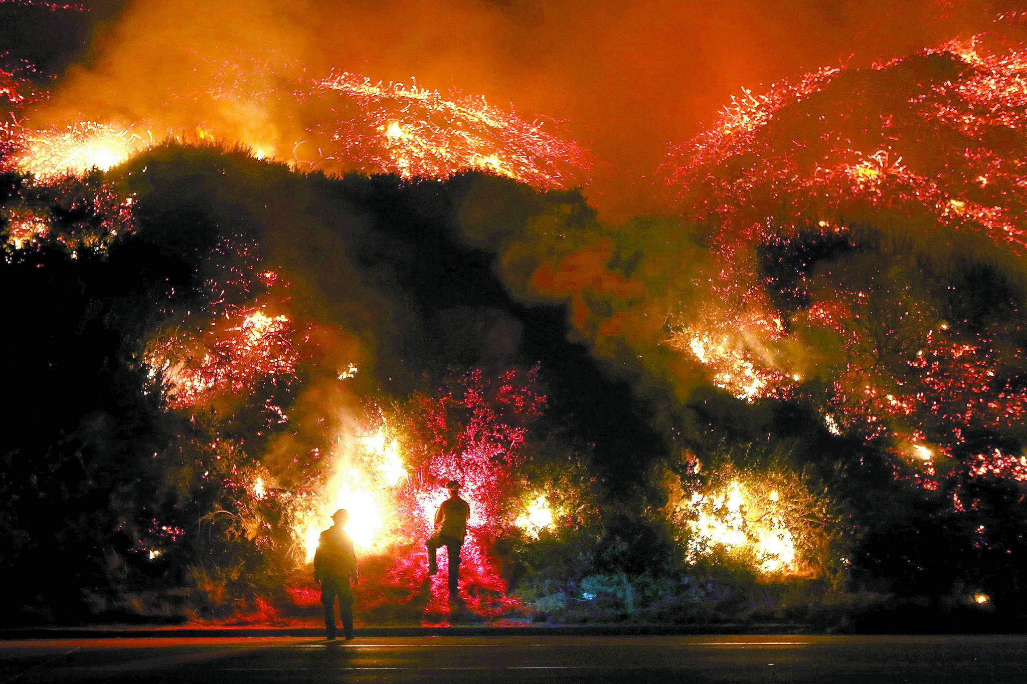 캘리포니아 산불로 미국 연방정부가 비상사태를 선포했다. [중앙포토]