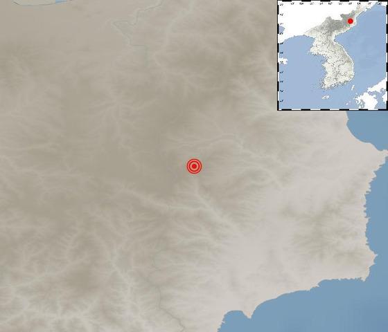 9일 오후 3시 13분쯤 북한 함경북도 길주 북북서쪽 45km 지역에서 규모 3.0의 지진이 발생했다. [사진 기상청]