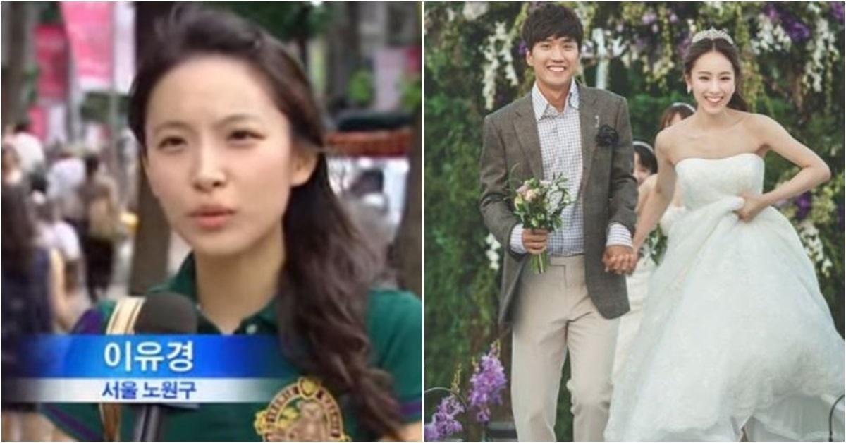 이유경 아나운서가 2010년 MBC와 인터뷰를 하는 모습(왼쪽)과 정혁·이유경의 결혼사진. [사진 이유경 인스타그램]