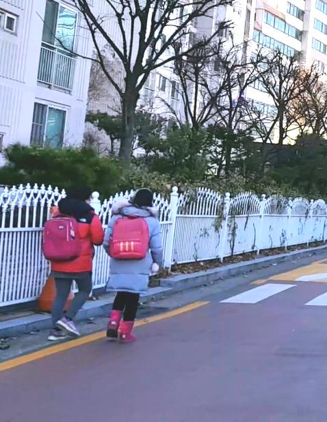 서울 한 초등학교 학생들이 낮 시간에 하교를 하고 있다. 김선영 기자