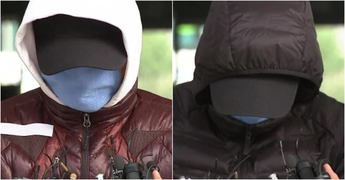 급유선 선장 전모씨(左)와 갑판원 김모씨(右). [연합뉴스]