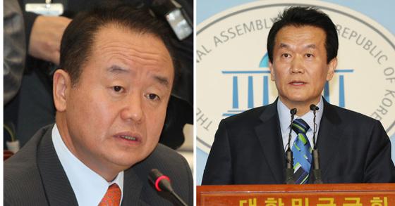 주성영 전 의원과 박주원 국민의당 최고위원 [연합뉴스]