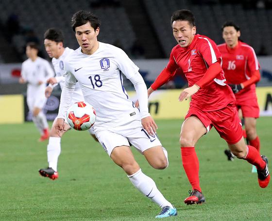 한국 축구, 2년 만의 남북대결 승리