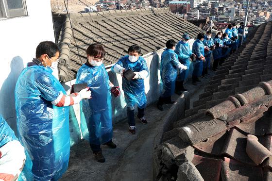 연탄 나눔 봉사. 장진영 기자