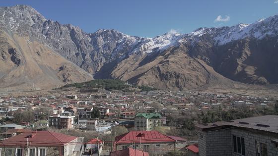 조지아 카즈베기 마을.