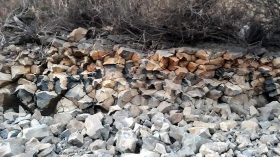 차집관로 공사로 훼손된 경기도 연천군 한탄강 지류 차탄천 주상절리 주변 모습. [사진 연천지역사랑실천연대]