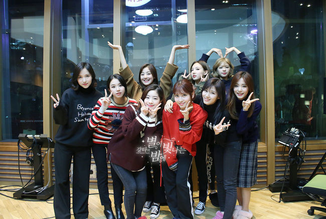 TWICE on 'Kangta's Starry Night.' Photo from MBC.