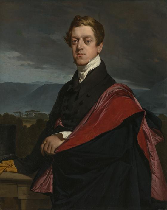 장오귀스트도미니크 앵그르의 '니콜라이 구리예프 백작의 초상'. 1821. 캔버스에 유채. [사진 예르미타시박물관]