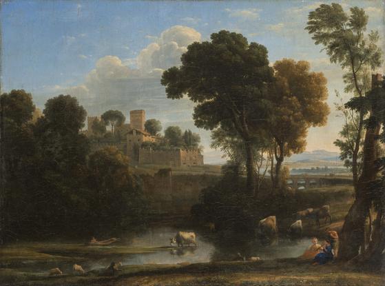 클로드 로랭의 '이탈리아 풍경'. 1648. 캔버스에 유채. [사진 예르미타시박물관]