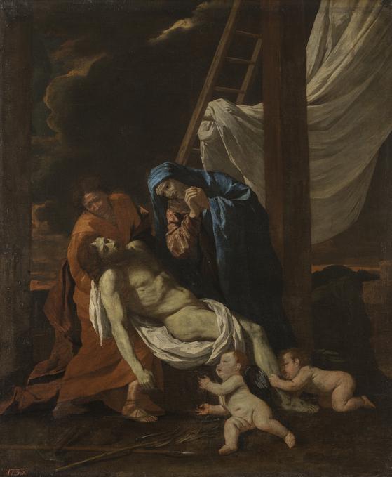 니콜라 푸생의 '십자가에서 내림'. 1628~1629, 캔버스에 유채. [사진 예르미타시박물관]