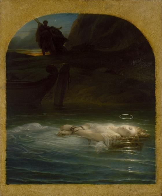 폴 들라로슈의 '티베르 강에 빠져 죽은 기독교 순교자'. 1853. 캔버스에 유채. [사진 예르미타시박물관]